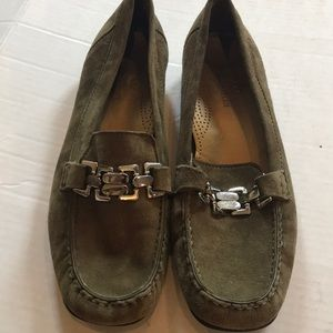 Cole Haan Olive Green Loafers w/Silver Accent 10.5